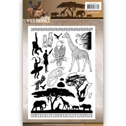 ADCS10017 ~ Wild Animals ~ Clear Stamp ~ Amy Design